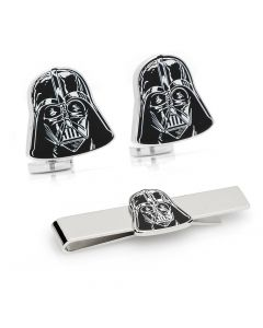 Darth Vader Head Cufflinks Tie Bar Gift Set