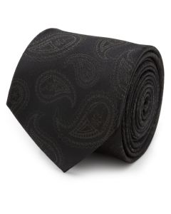 Darth Vader Paisley Black Silk Men's Tie