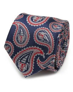 R2D2 Blue and Red Paisley Men's Tie