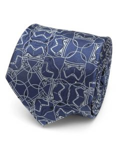 Stormtrooper Blue Pattern Men's Tie