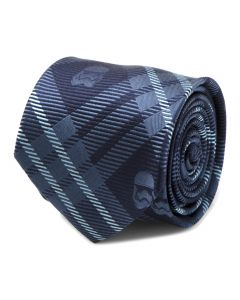 Stormtrooper Navy Plaid Mens Tie