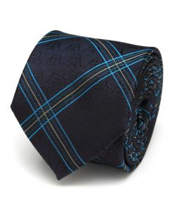 Vader Icon Modern Plaid Men's Tie