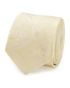 Yoda Paisley Yellow Silk Boy's Tie