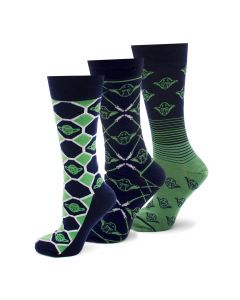 Wise Yoda 3 Pair Socks Gift Set