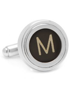 "Typewriter ""M"" Key Cufflinks"