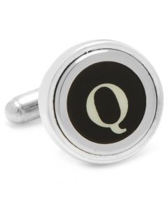 "Typewriter ""Q"" Key Cufflinks"