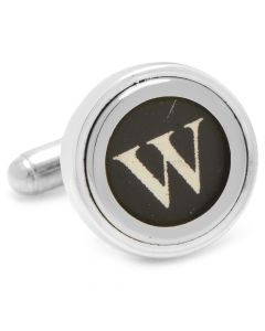 "Typewriter ""W"" Key Cufflinks"