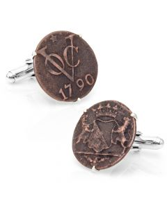 Dutch East India Trading Company Coin Cufflinks