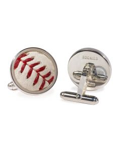 Colorado Rockies Game-Used Baseball Cufflinks