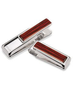 Rhodium with Cocobolo Wood Money Clip