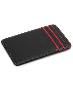 RFID Slim Card Wallet - Black & Red