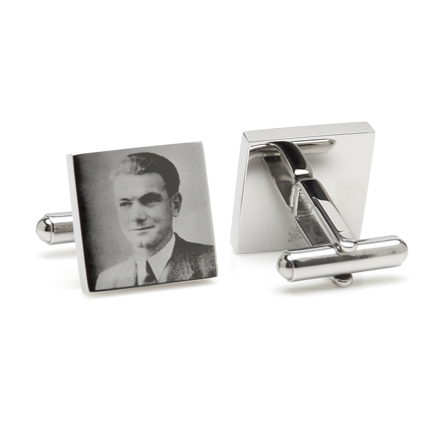 Square Photo Engraved Cufflinks