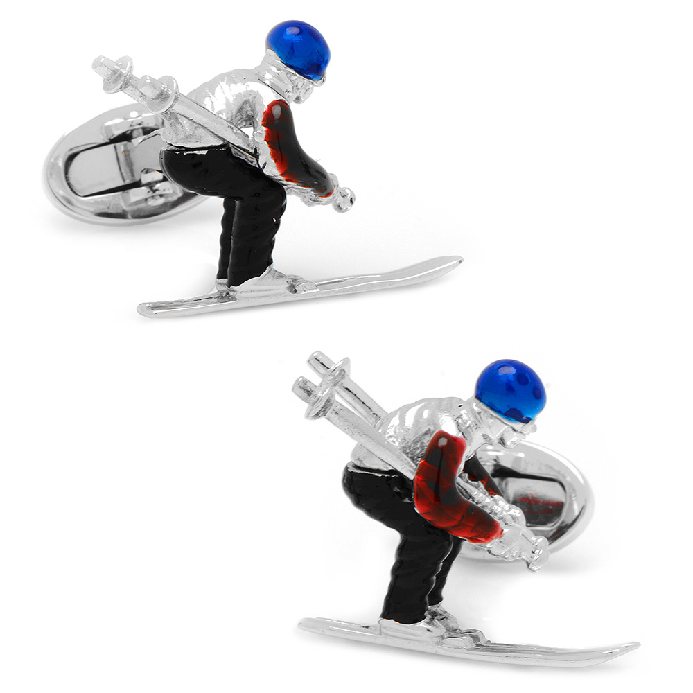 Moving Skier Cufflinks