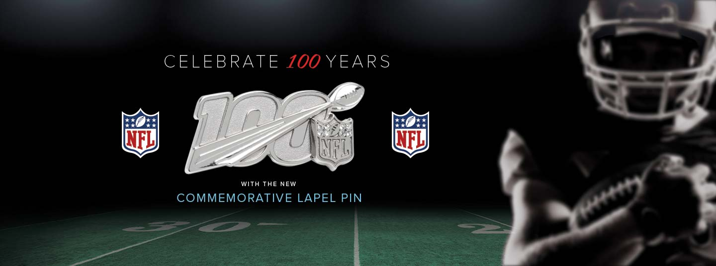 NFL 100 Years Lapel Pin