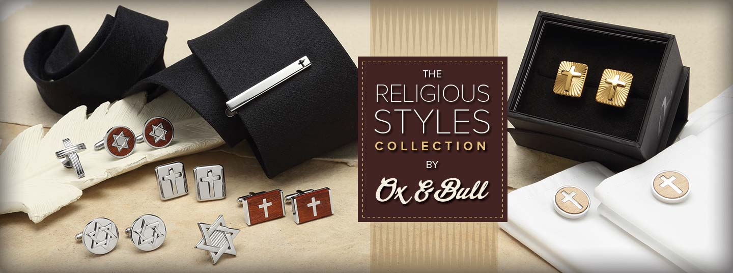 New Religious Cufflinks, Tie Clip, Lapel Pins from Ox & Bull Trading Co.