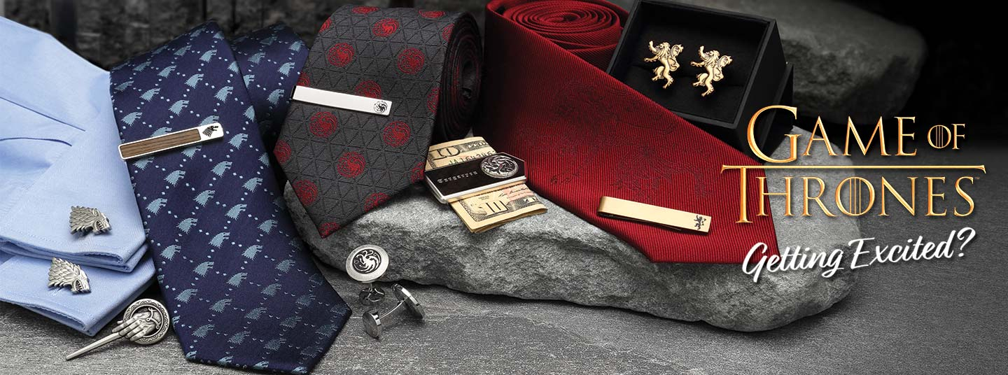 Game of Thrones Accessories | Officially licensed cufflinks, money clips, tie bars, and Neckties