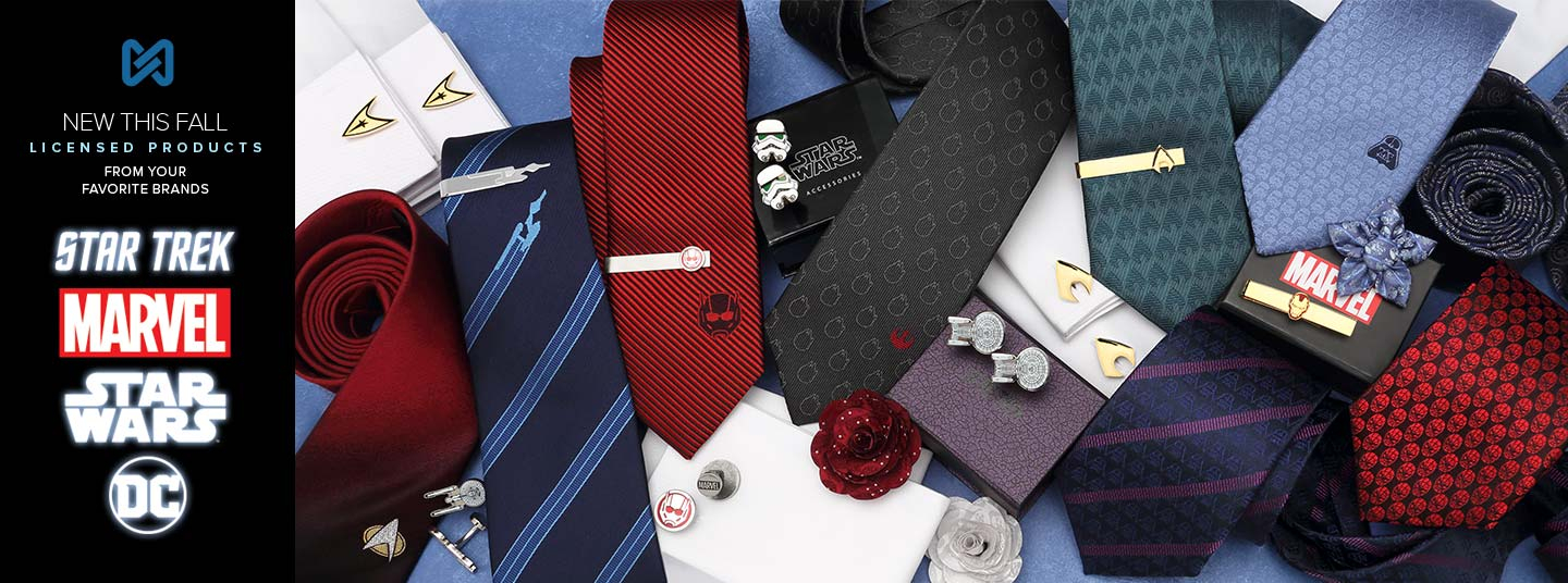 New Licensed Product for Fall 2018 | Cufflinks, Tie Bars, Lapel Flowers