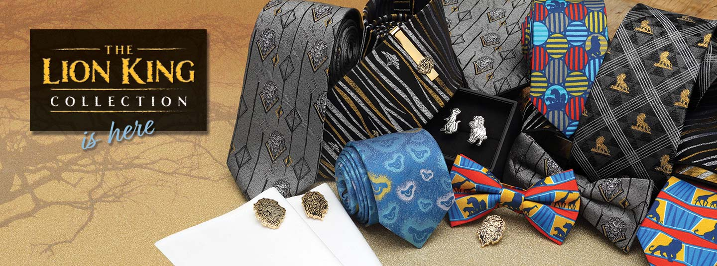 Men's Cufflinks, Neck Ties and More celebrating The Lion King