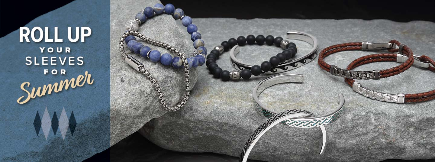 Men's Bracelets   Perfect for rolling up your sleeves and going outside