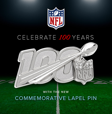 NFL 100 Year Lapel Pin