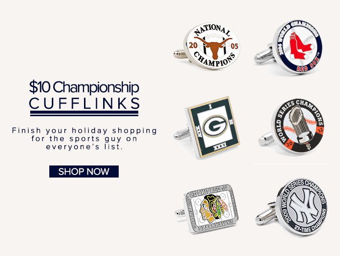 10 Dollar Commemorative Sports Cufflinks!
