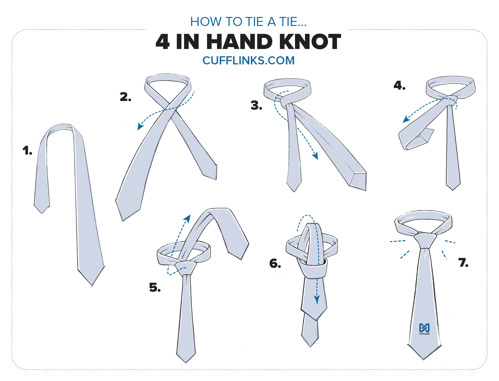 How to Tie a 4 in Hand Knot