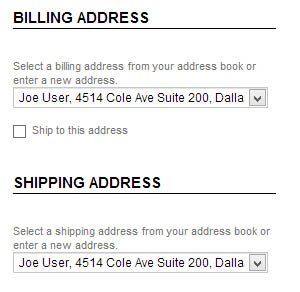 Billing Address, Email Address, Customer Information